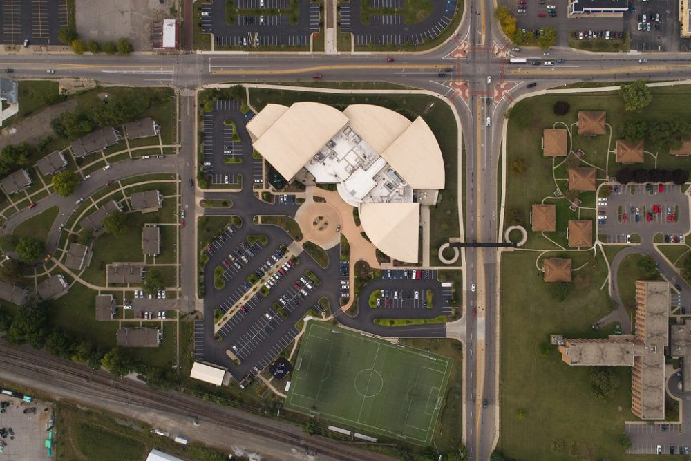 Site and Landscape Design at Ray and Jaon Kroc Center - South Bend, IN