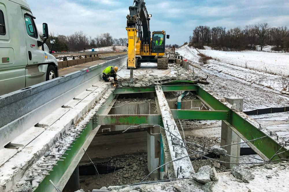 Construction Inspection on Indiana Toll Road's PUSH Project - I-80 Northern Indiana