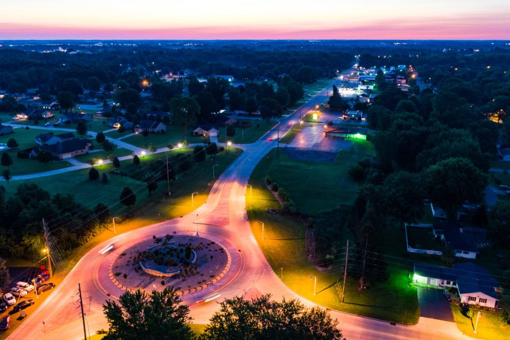 Roundabout at Zimmer Road and Old US 30 - Warsaw, IN