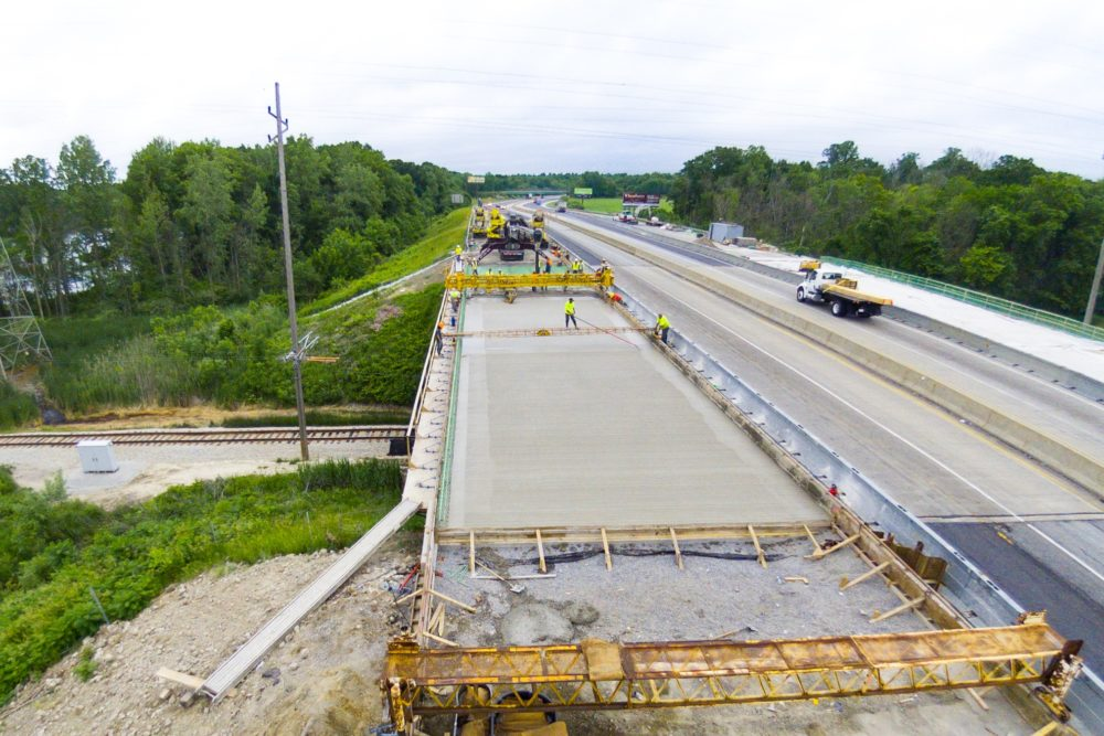 Construction Inspection on I-94 Bridge Over the Northern Indiana Commuter Transportation District Line - Northwest Indiana