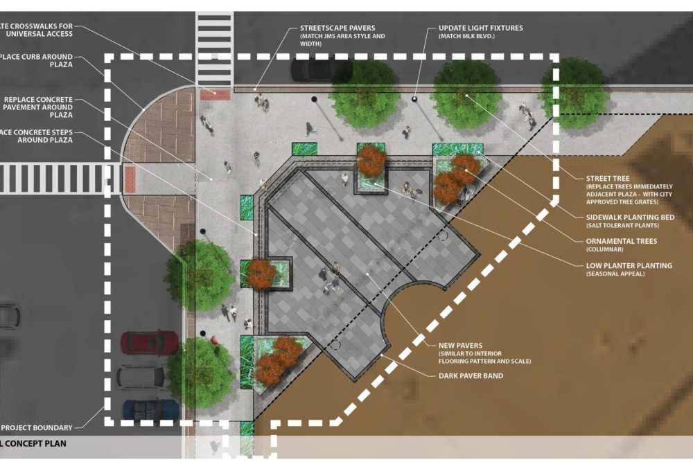 100 Wayne Street Plaza Schematic Design Summary - South Bend, IN