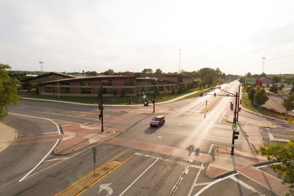 Intersection at Western Avenue and Chapin Street - South Bend, IN