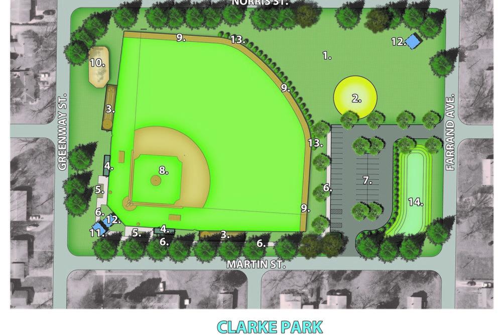 Clarke Park Master Plan - La Porte, IN