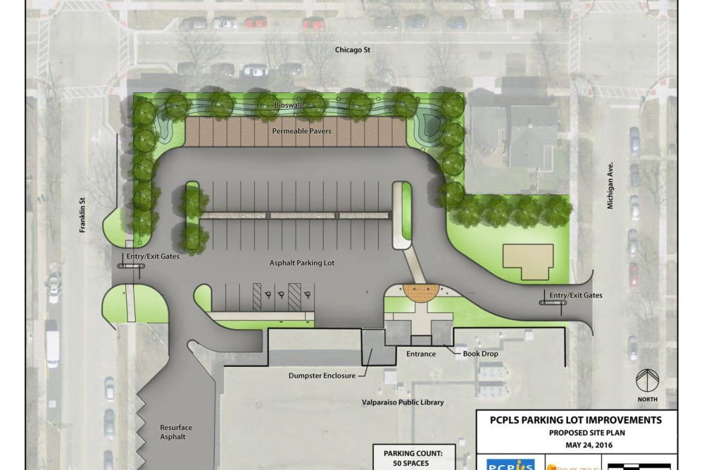 Parking Lot Plan for Porter County Public Library - Valparaiso, IN
