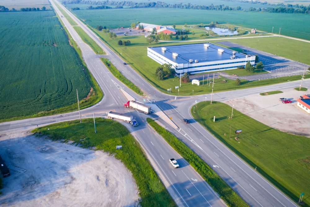 The State of Indiana's first J-Turn Intersection at US 41 and SR 114 - Morocco, IN