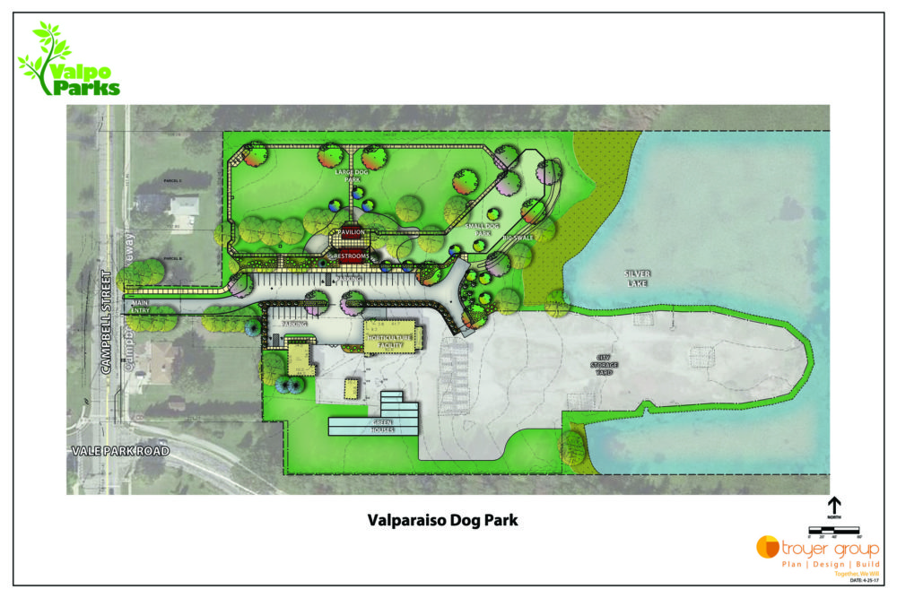 Plans for a dog park in Valparaiso, IN