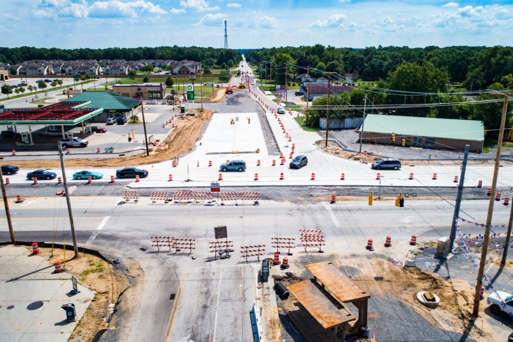 Construction Inspection at Intersection of Ash Road and McKinley Highway - Osceola/Elkhart, IN
